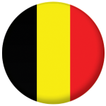 Belgium Country Flag 58mm Mirror Keyring